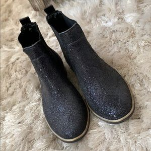 Kate spade sparkly Chelsea boot